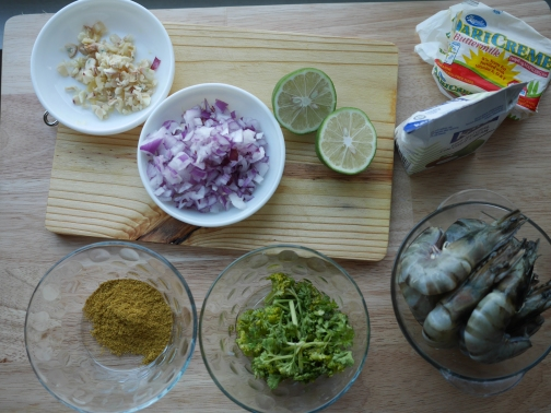 First Step. Prepare the Ingredients.