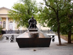 Drowned horses - fragment of Sholohov (russian writer) memorial in Moscow