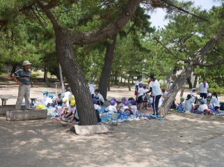 Japanese kids in summer camp
