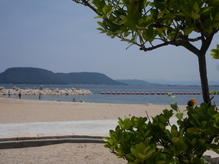 The beach in Megijima