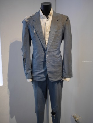 """Suit worn by Karl Van Laere in his performance art """"Slow"""" — at Taipei Artist Village."""