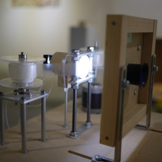 Moving devices by Junya Kataoka http://junyakataoka.main.jp/ — at Taipei Artist Village.