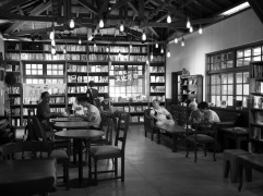 Library/cafe in Songshan Cultural and Creative park