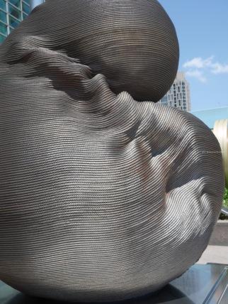 Art sculpture in front of Taipei 101