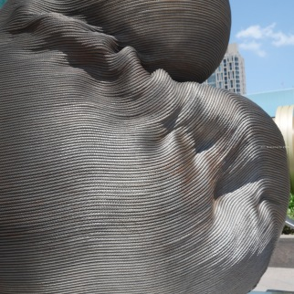 Art sculpture in front of Taipei 101