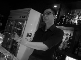 The awesome bartender at Ginsman Bar - Ahn Bustamante