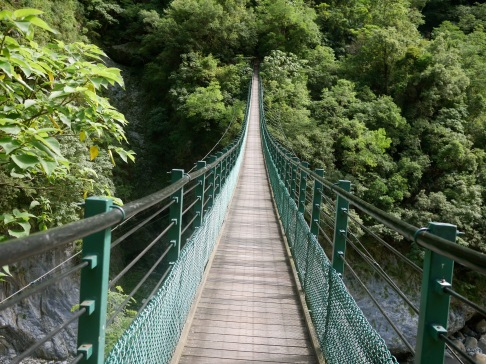 Rope bridges in Taroko