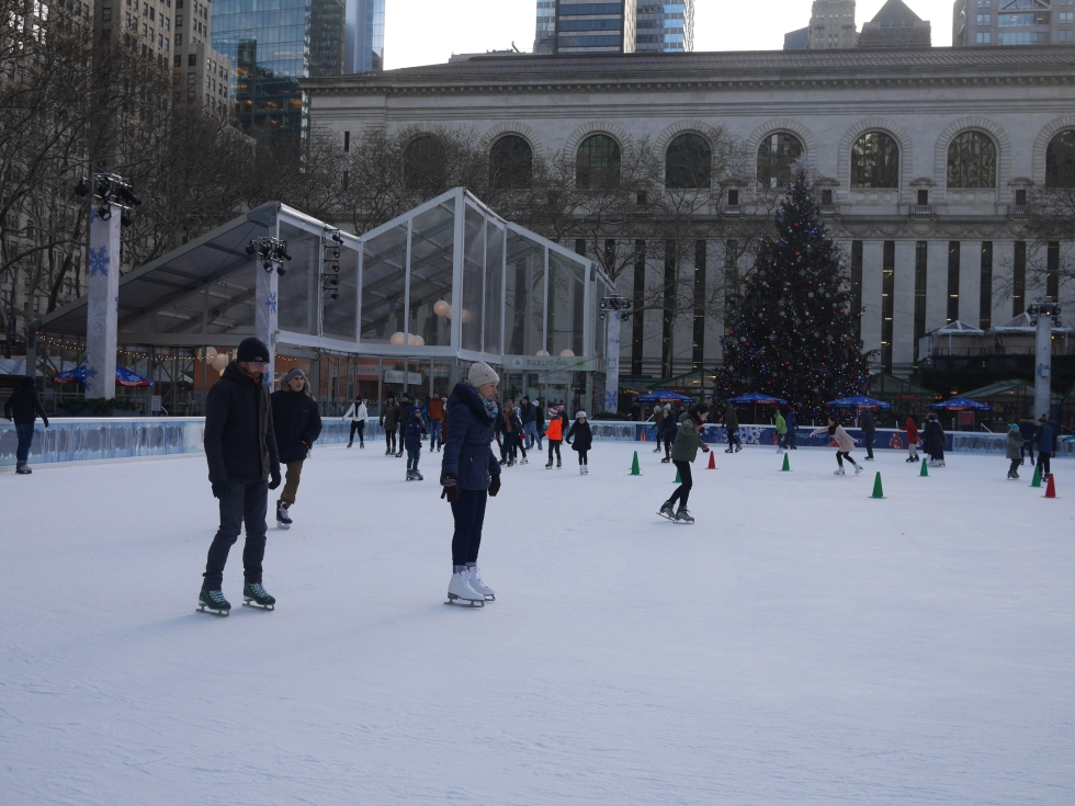 Skiing at Bryant Park - Ahn Bustamante