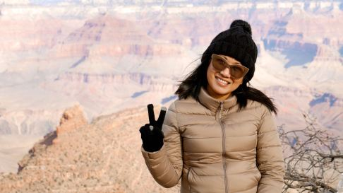 Ahn Bustamante in the Grand Canyon