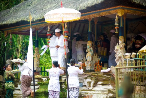 A wedding ceremony in Bali