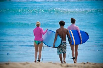 Bali Beach surfing